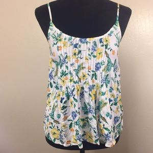 Floral Humming Bird Top